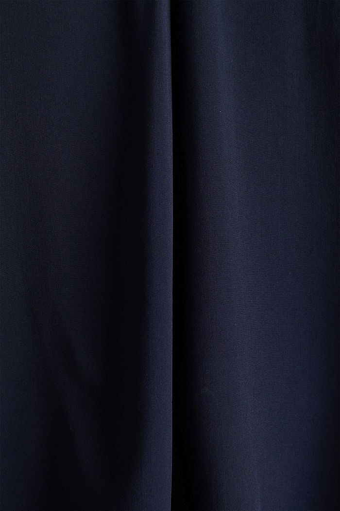 Blouse top made of LENZING™ ECOVERO™, NAVY, detail image number 4