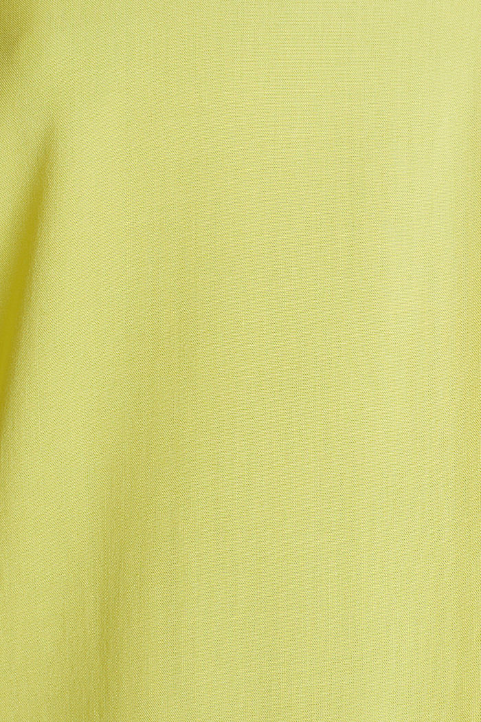 Blouse top made of LENZING™ ECOVERO™, BRIGHT YELLOW, detail image number 4