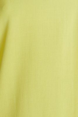 Blouse top made of LENZING™ ECOVERO™, BRIGHT YELLOW, detail