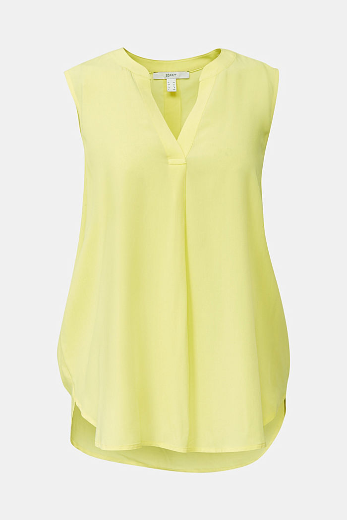 Blouse top made of LENZING™ ECOVERO™, BRIGHT YELLOW, detail image number 8