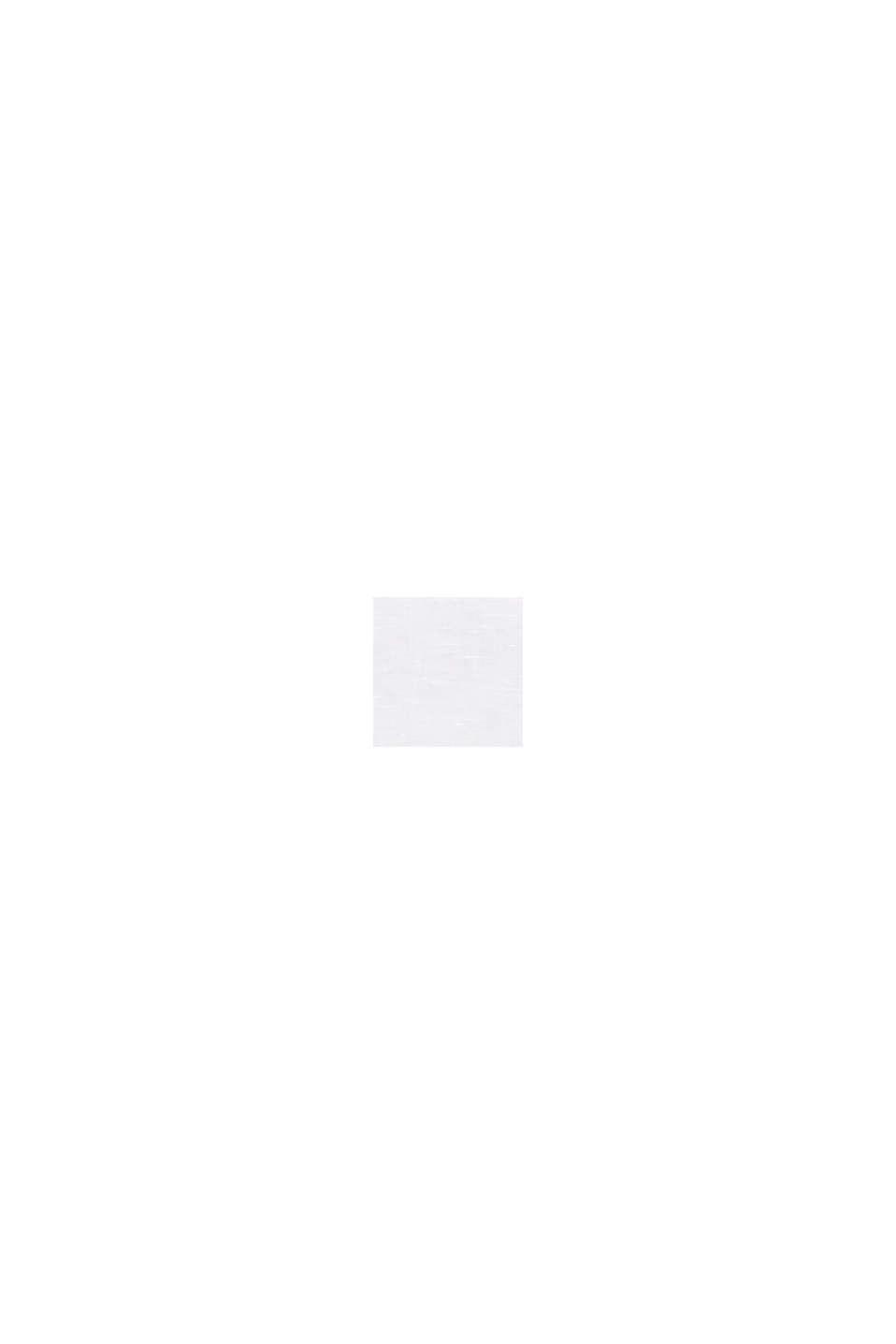 Aus Leinen-Mix: Bluse mit Shirt-Shape, WHITE, swatch