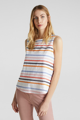 Embroidered top made of 100% cotton