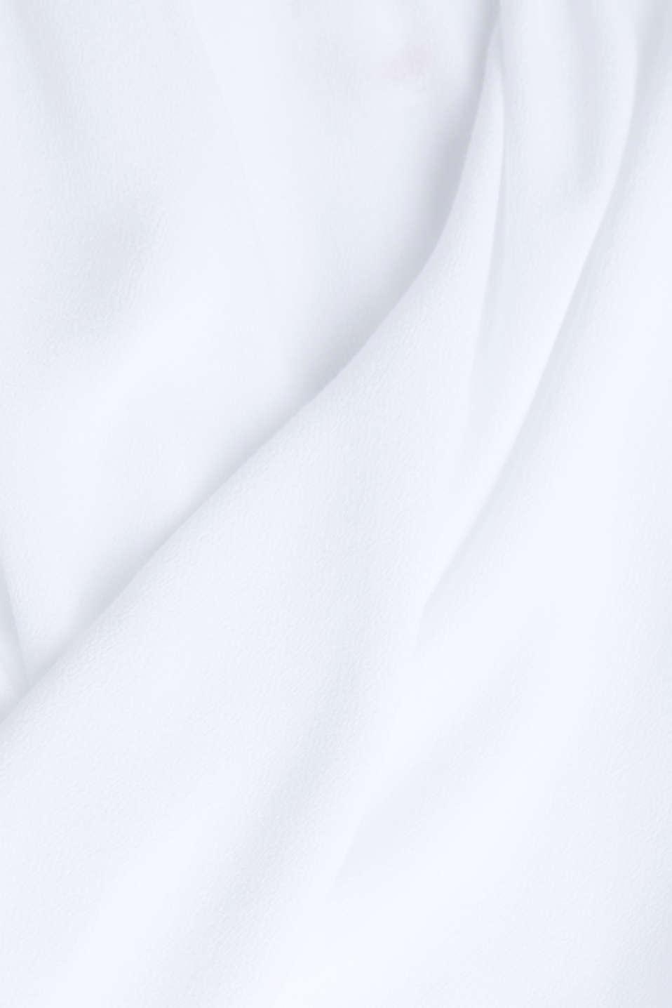 Crêpe Carmen blouse, WHITE, detail image number 4