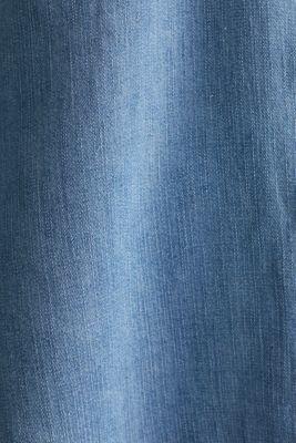 Made of TENCEL™: Denim blouse top, BLUE LIGHT WASH, detail