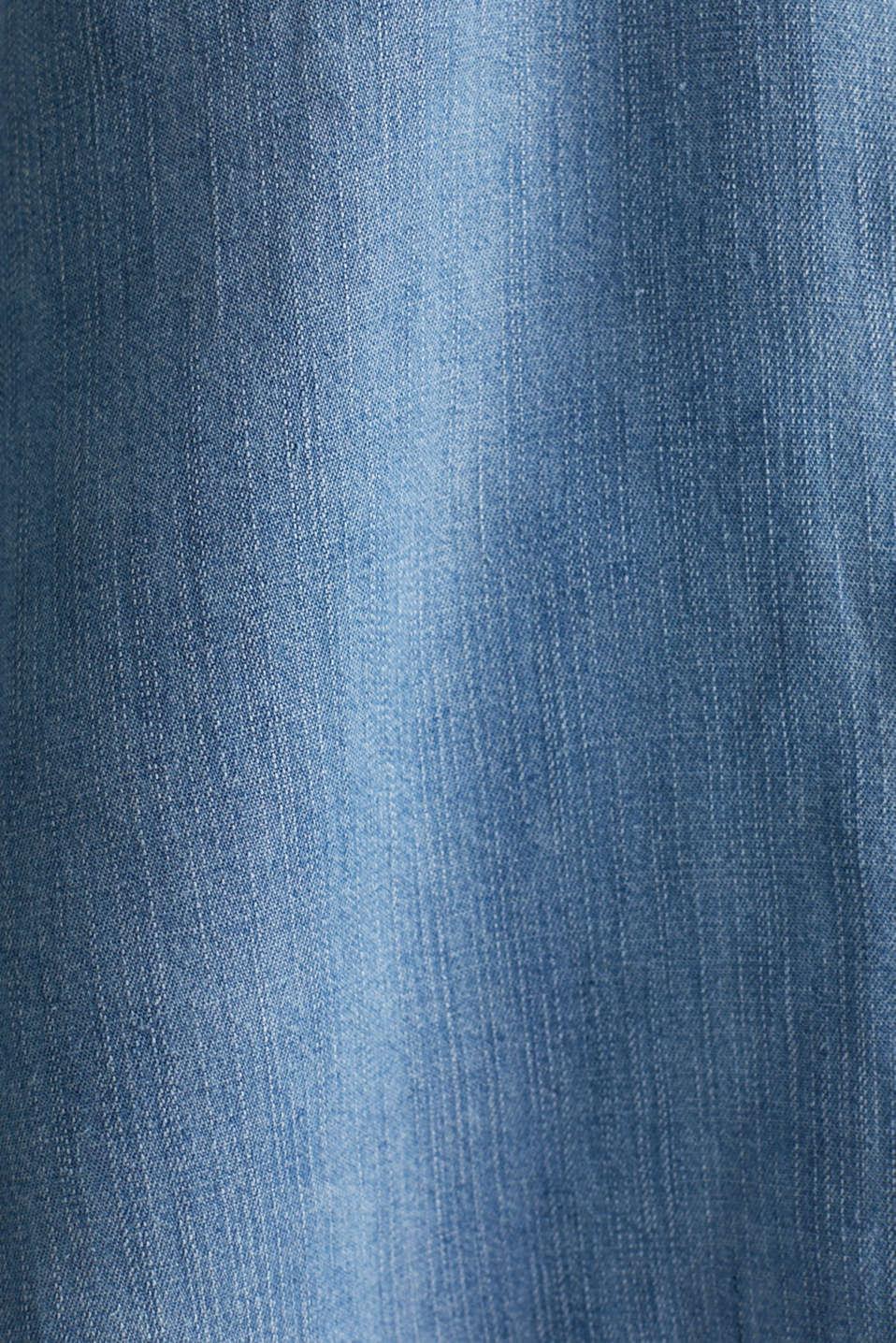 Made of TENCEL™: Denim blouse top, BLUE LIGHT WASH, detail image number 4