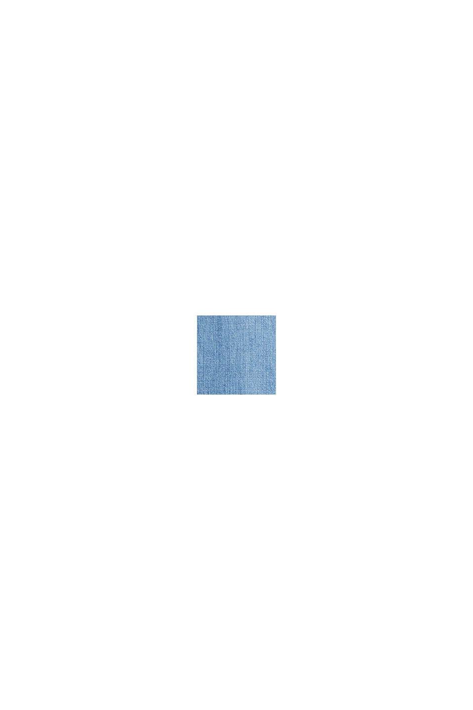 Z tkaniny TENCEL™: bluzkowy top z denimu, BLUE LIGHT WASHED, swatch
