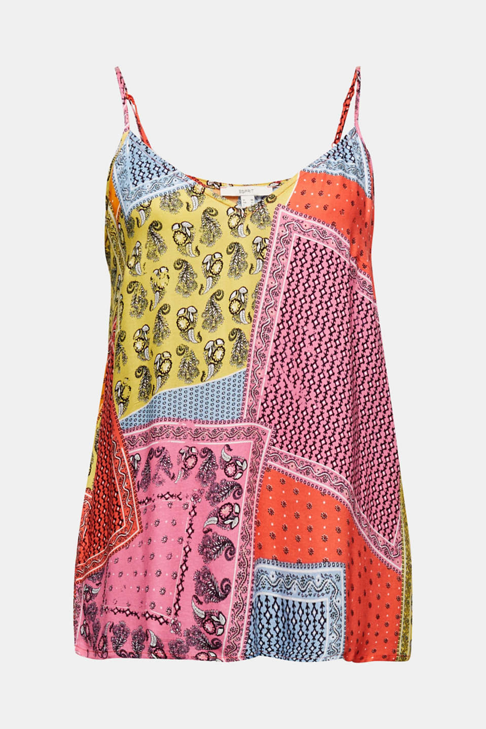 Crêpe blouse top with a print, CORAL 4, detail image number 6