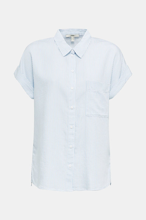 Made of TENCEL™: blouse with stripes