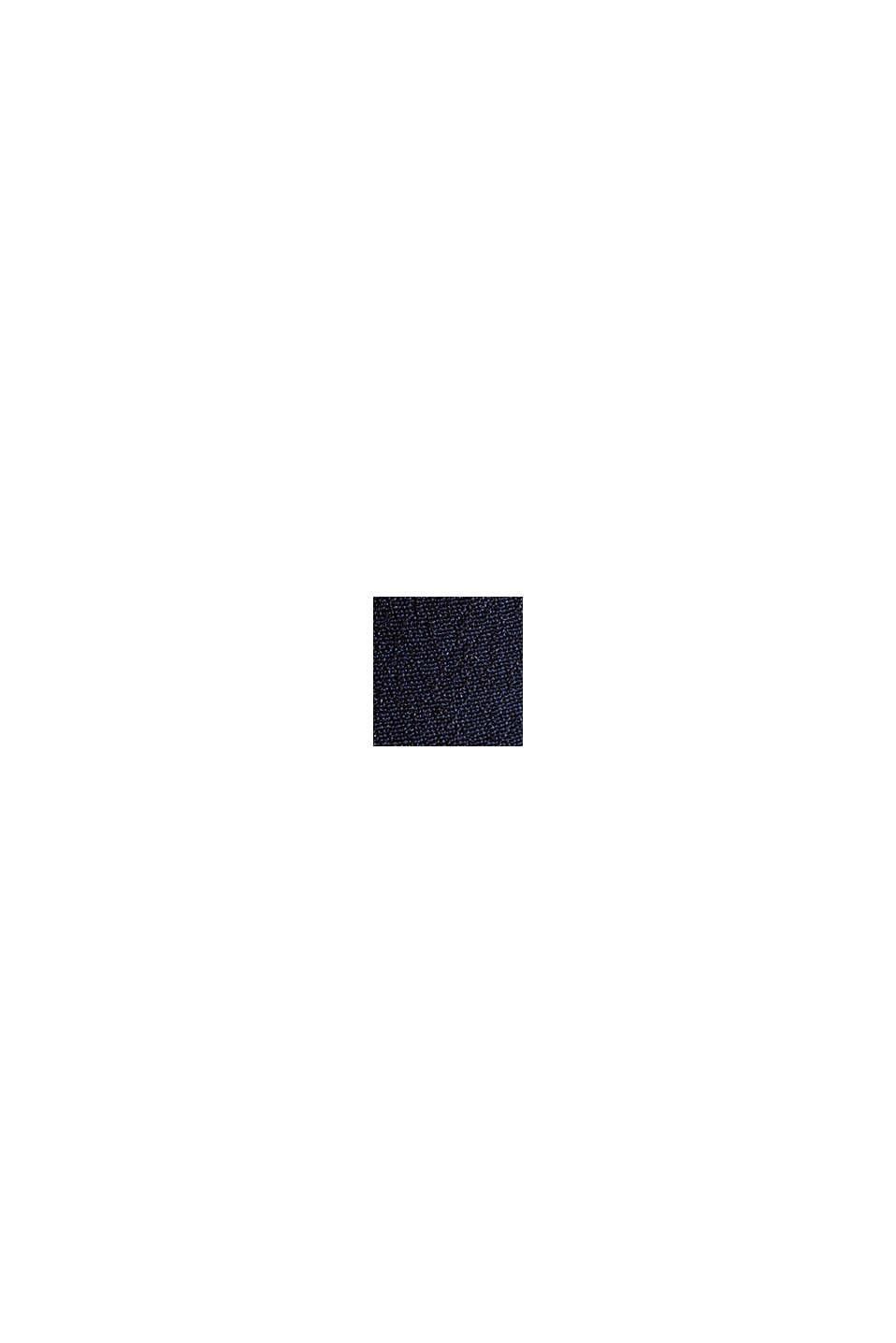 Blusentop aus LENZING™ ECOVERO™, NAVY, swatch