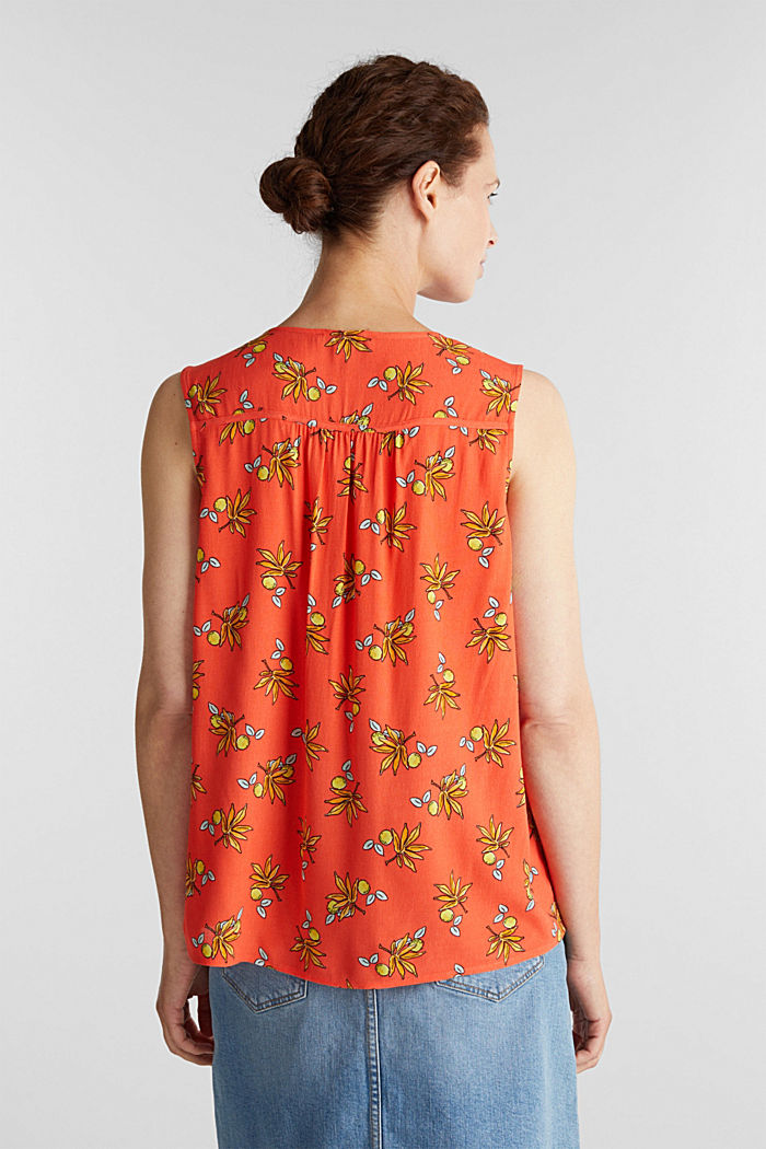 Blouse top made of LENZING™ ECOVERO™, CORAL, detail image number 2