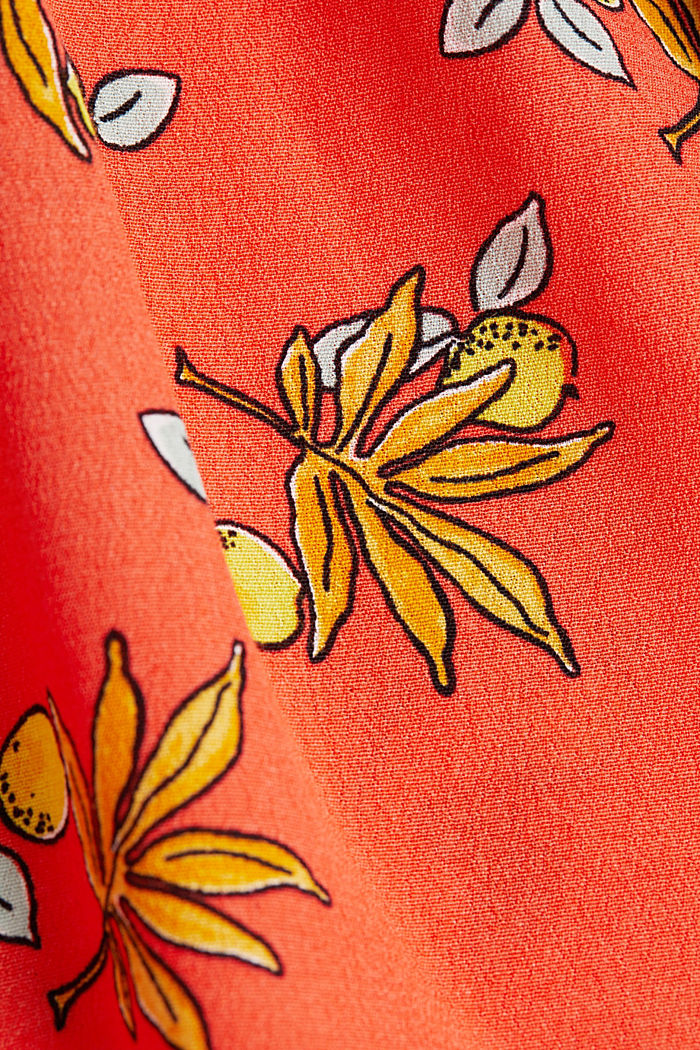 Blouse top made of LENZING™ ECOVERO™, CORAL, detail image number 3