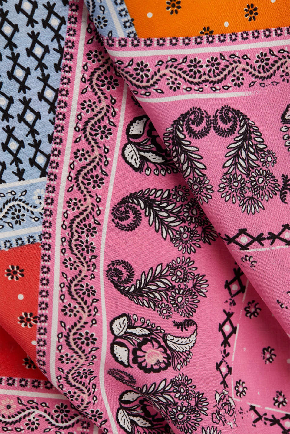 Blouse top with a bandana print, CORAL 4, detail image number 4
