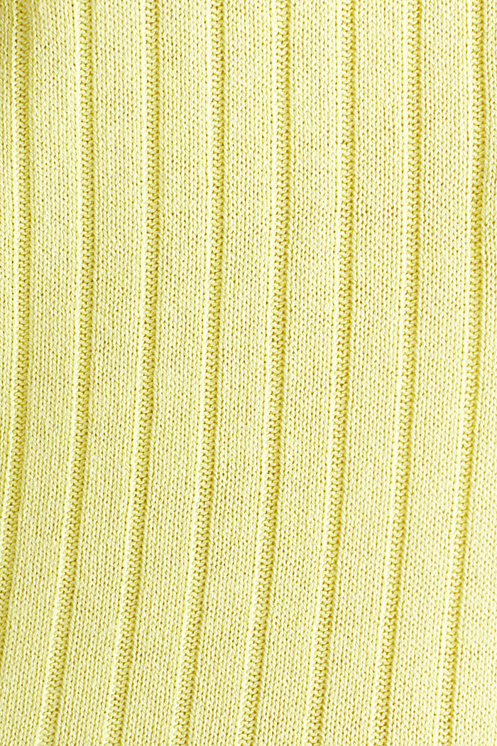 With linen: jumper with a button placket, LIME YELLOW, detail image number 3