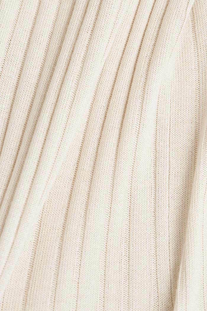 Linen blend: Rib knit cardigan, SAND, detail image number 4