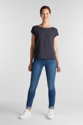 Top with a bow at the back, NAVY, detail