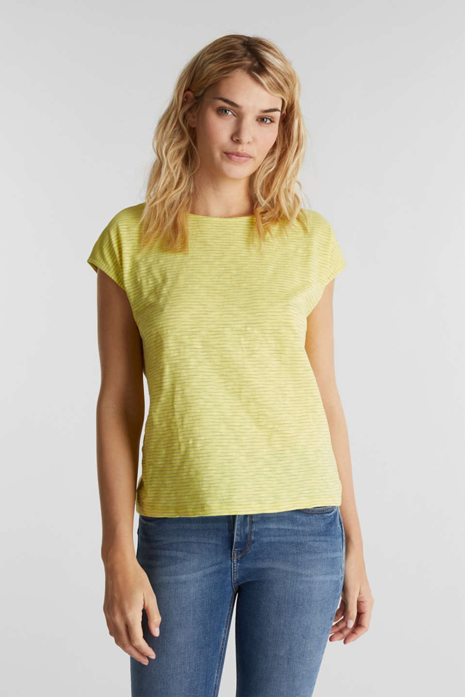Top with a bow at the back, BRIGHT YELLOW, detail image number 0