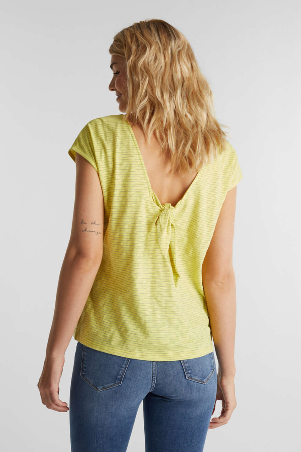 Top with a bow at the back, BRIGHT YELLOW, detail image number 2