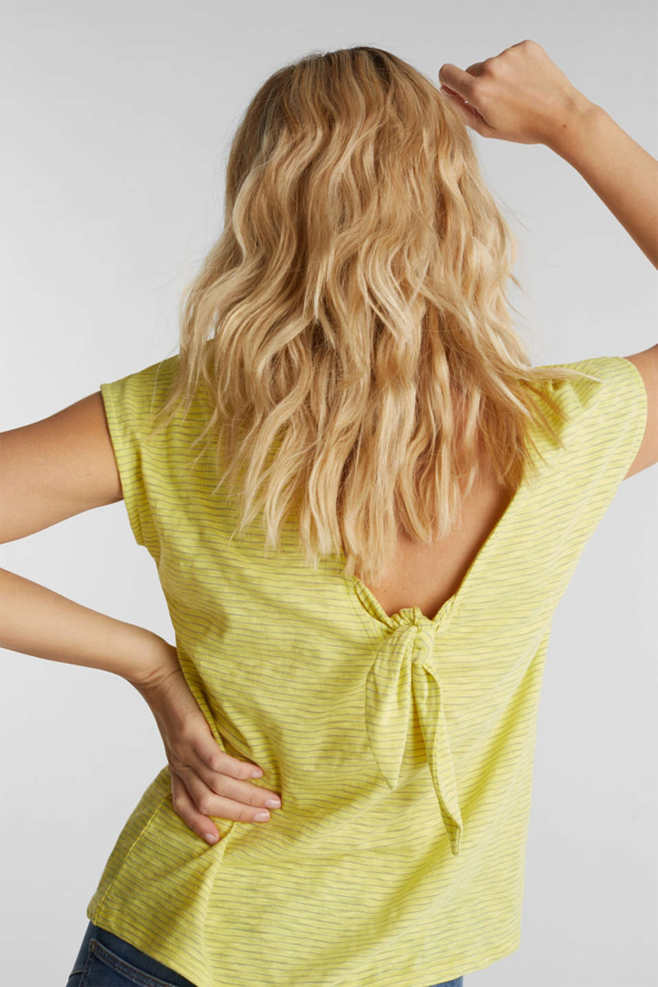Top with a bow at the back, BRIGHT YELLOW, detail image number 4
