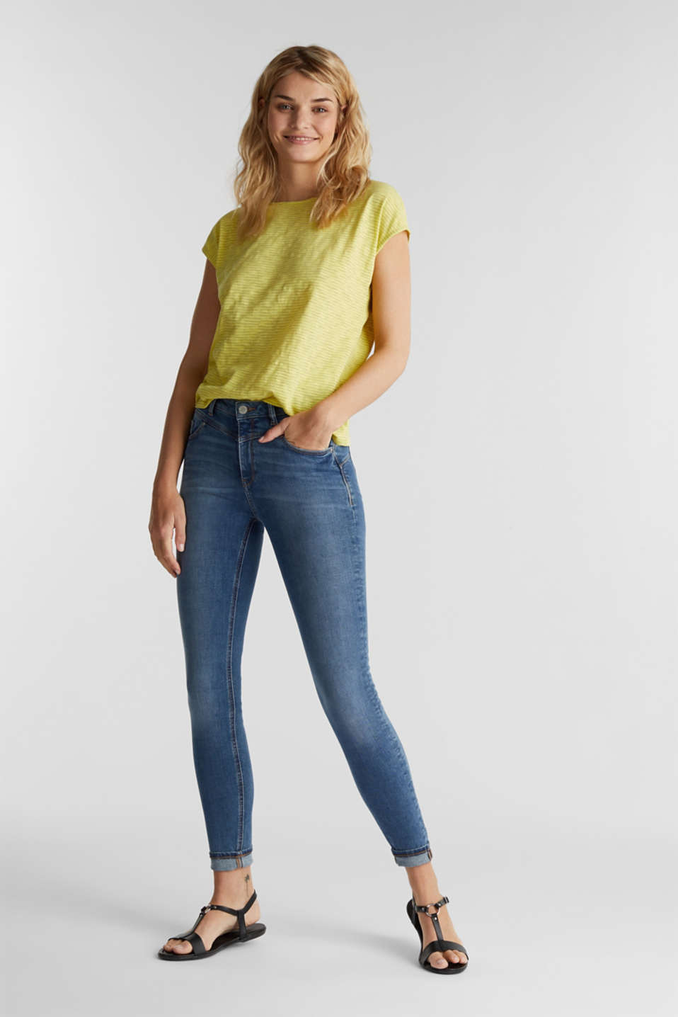 Top with a bow at the back, BRIGHT YELLOW, detail image number 1