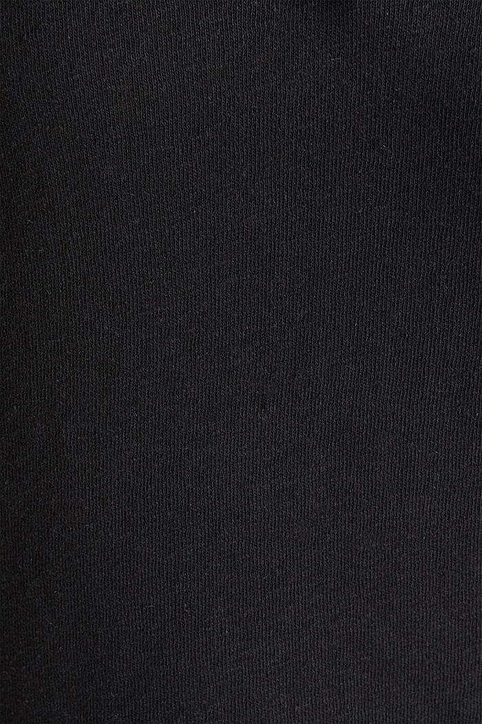 Aus Leinen-Mix: Henley-Shirt, BLACK, detail image number 4