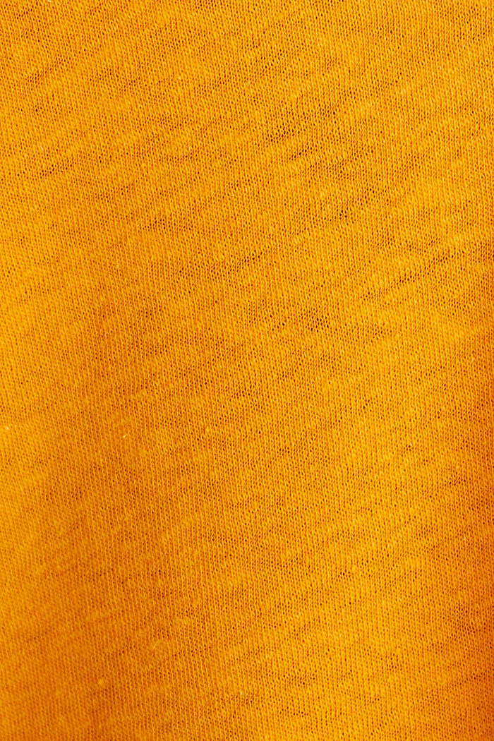 Linen blend: Henley top, ORANGE, detail image number 4