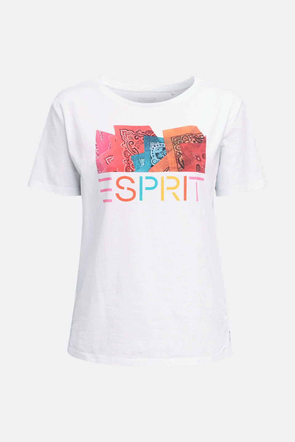 Printed T-shirt in 100% organic cotton, WHITE, detail image number 4