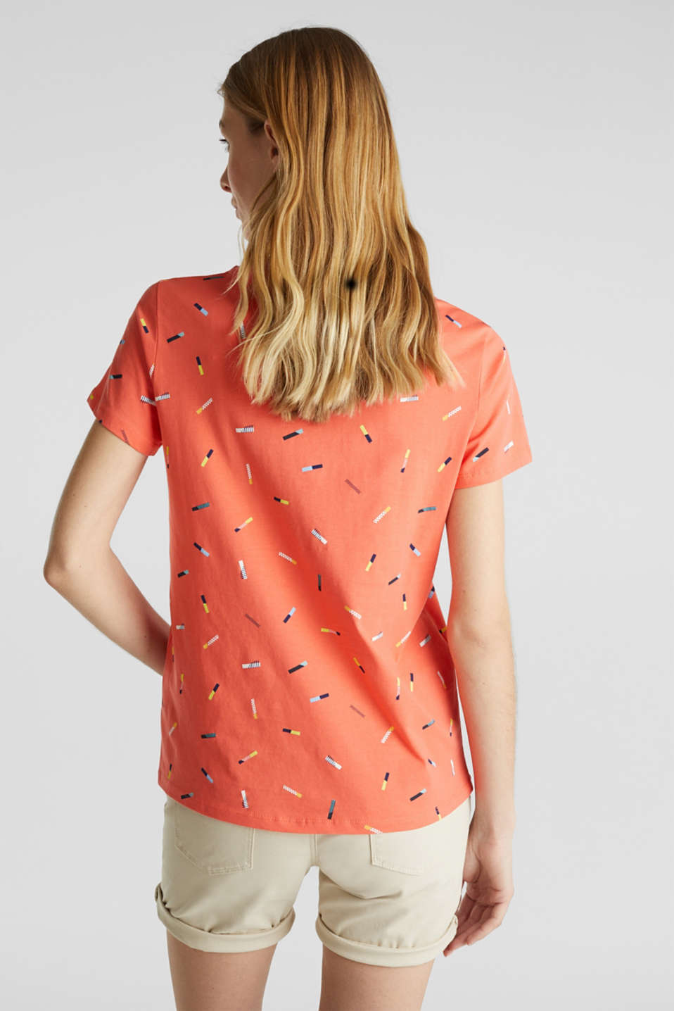 Print T-shirt in 100% cotton, CORAL, detail image number 2