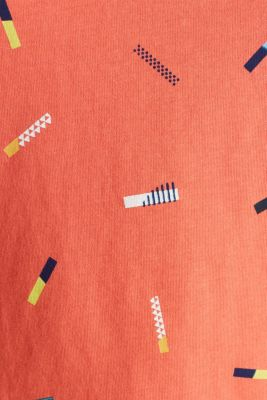 Print T-shirt in 100% cotton, CORAL, detail