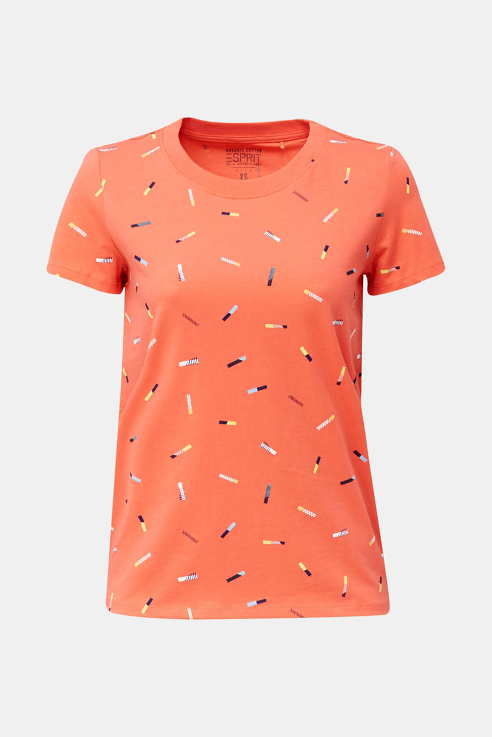 Print T-shirt in 100% cotton, CORAL, detail image number 4