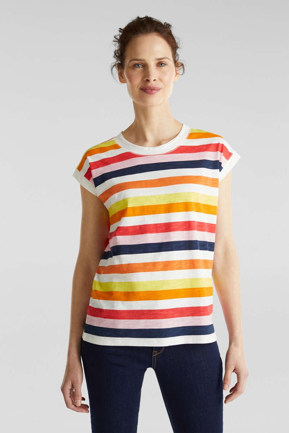 Printed T-shirt, 100% organic cotton, OFF WHITE, detail image number 0