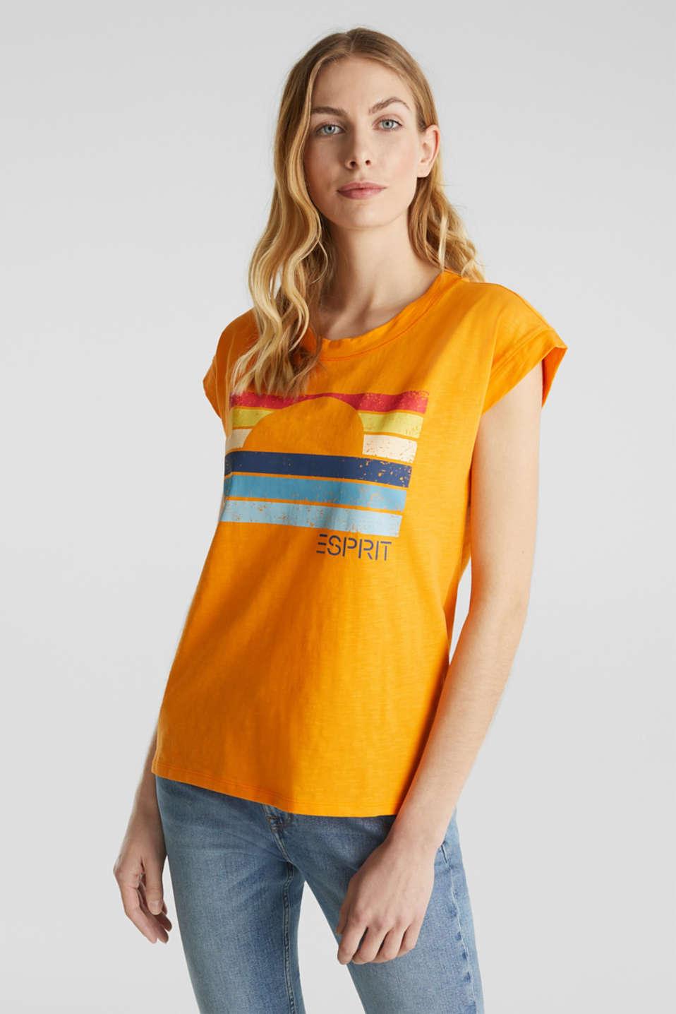 Printed T-shirt, 100% organic cotton, ORANGE, detail image number 0
