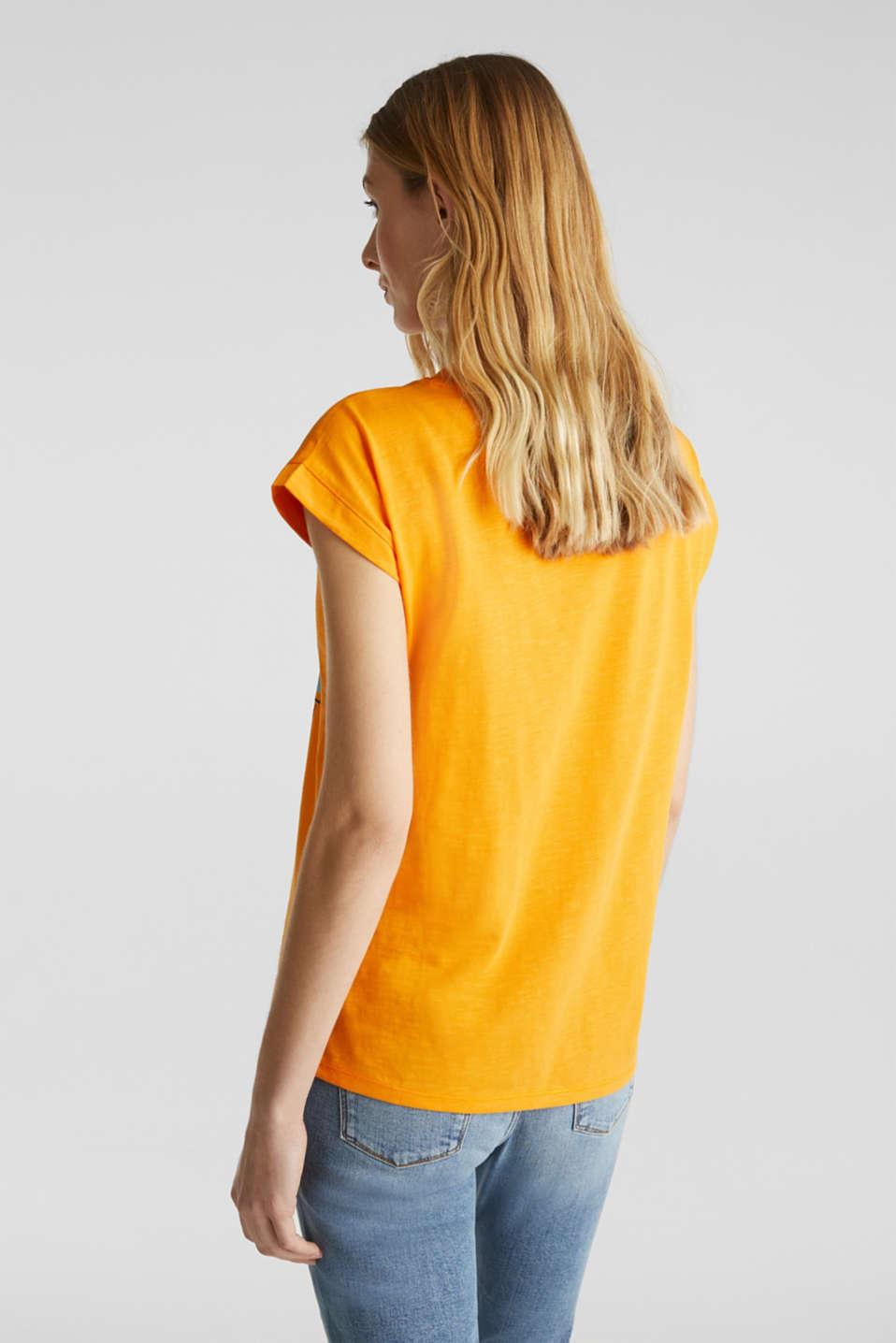 Printed T-shirt, 100% organic cotton, ORANGE, detail image number 2
