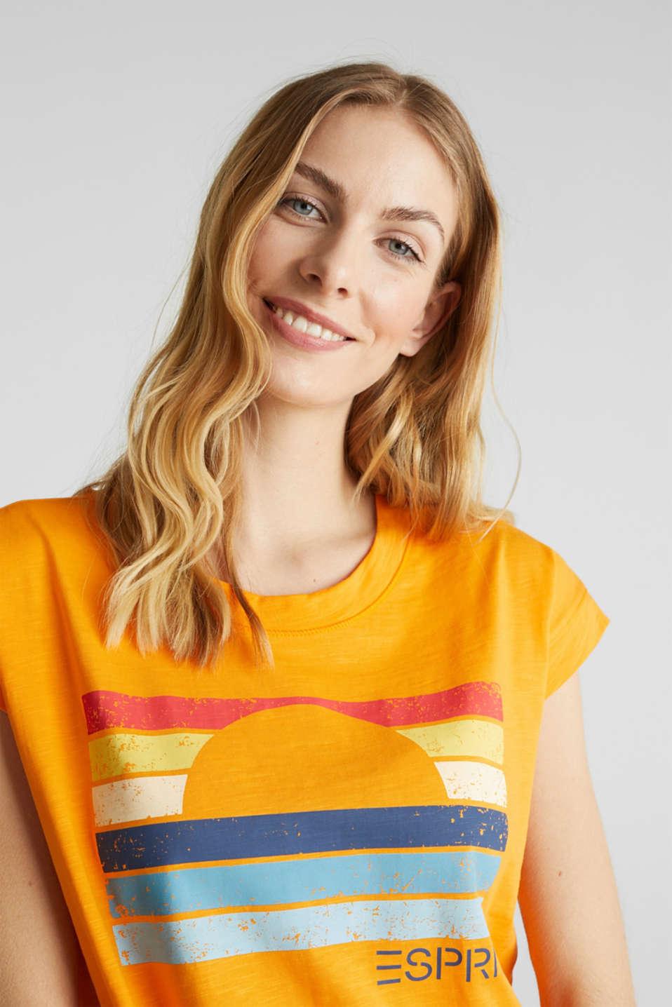 Printed T-shirt, 100% organic cotton, ORANGE, detail image number 4