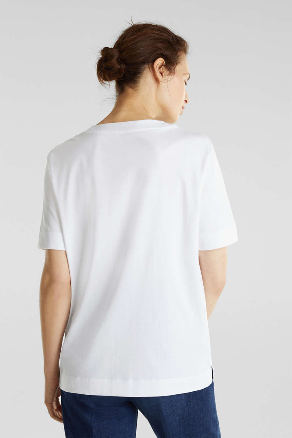 Printed T-shirt, 100% organic cotton, WHITE, detail image number 3