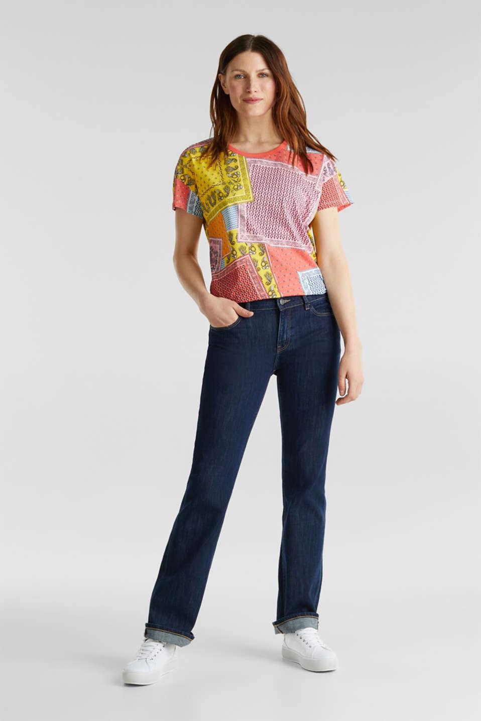 Bandana print top, organic cotton, PINK, detail image number 0