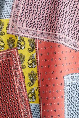 Bandana print top, organic cotton, PINK, detail