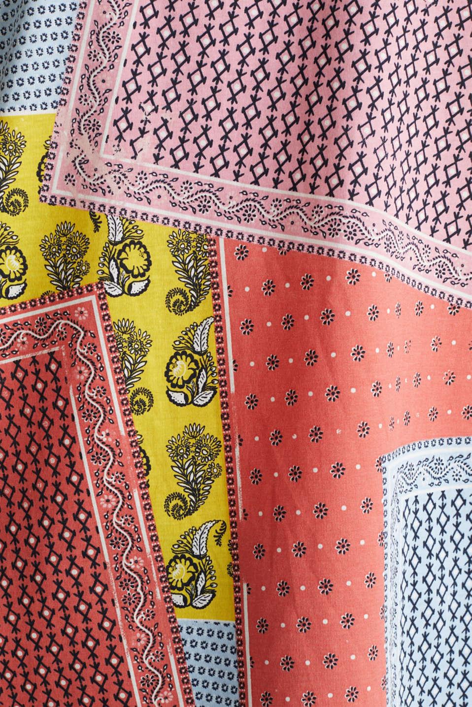Bandana print top, organic cotton, PINK, detail image number 2