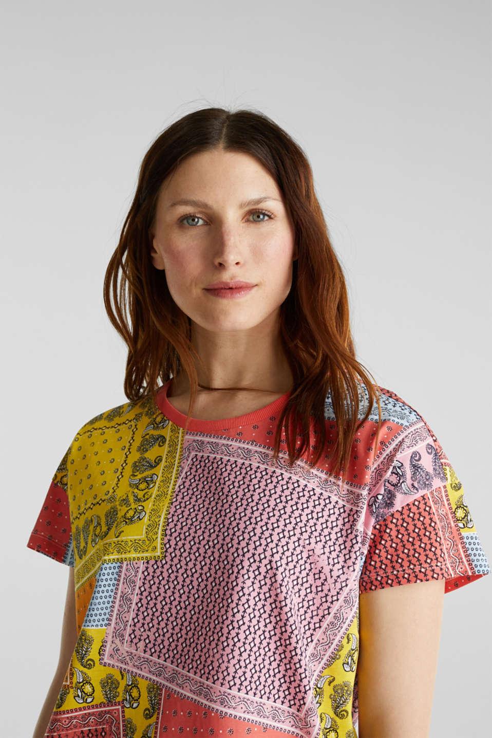 Bandana print top, organic cotton, PINK, detail image number 3