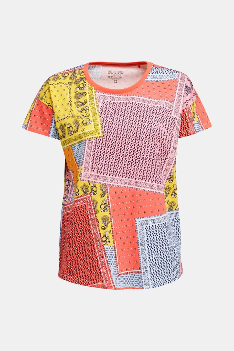 Bandana print top, organic cotton, PINK, detail image number 4