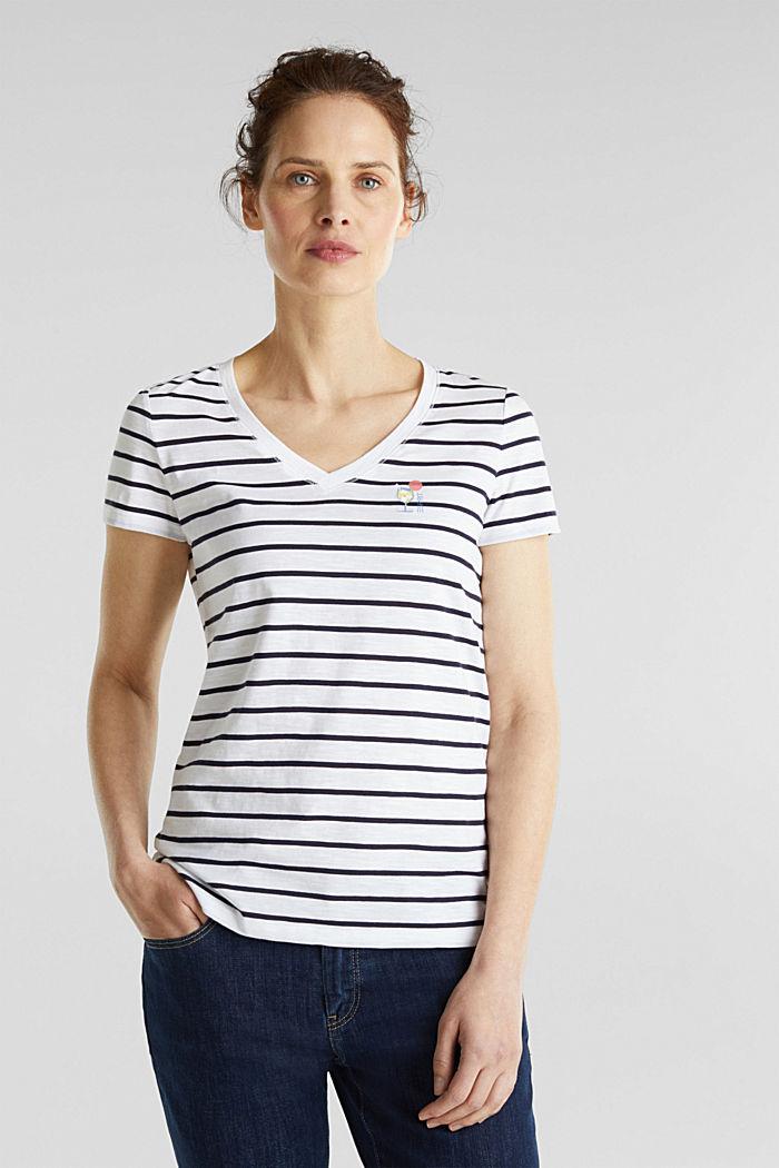 Streifen-Shirt, 100% Organic Cotton, NAVY, detail image number 0