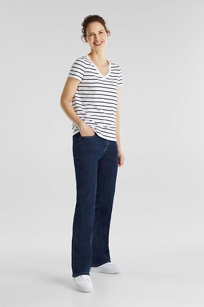 Streifen-Shirt, 100% Organic Cotton, NAVY, detail image number 1