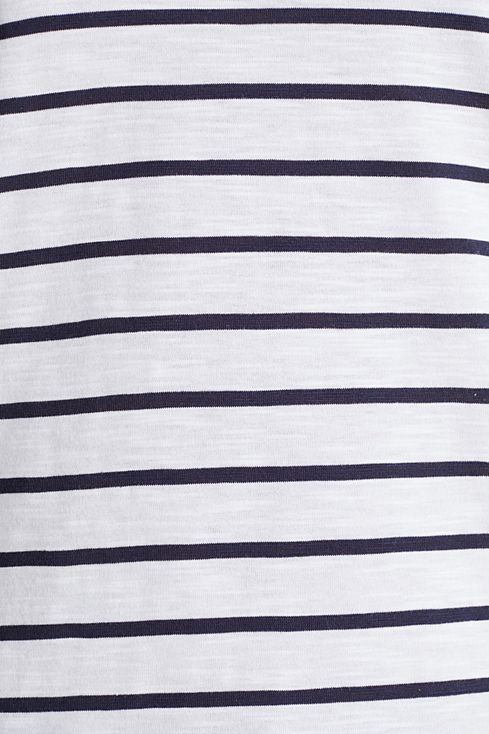 Streifen-Shirt, 100% Organic Cotton, NAVY, detail image number 4