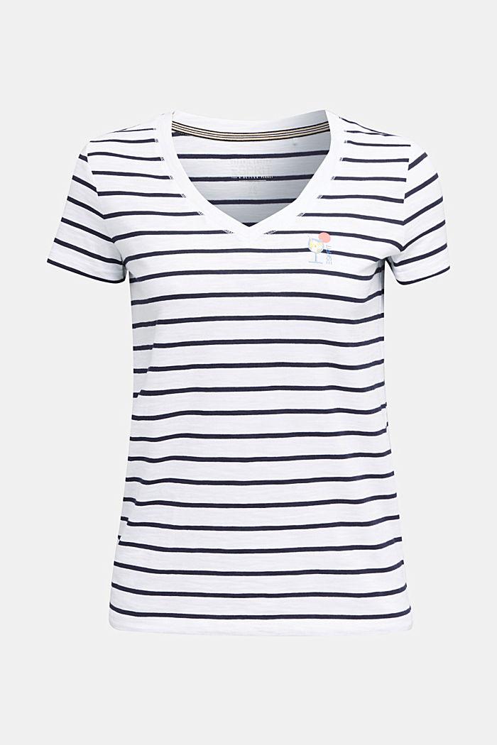 Streifen-Shirt, 100% Organic Cotton, NAVY, detail image number 5