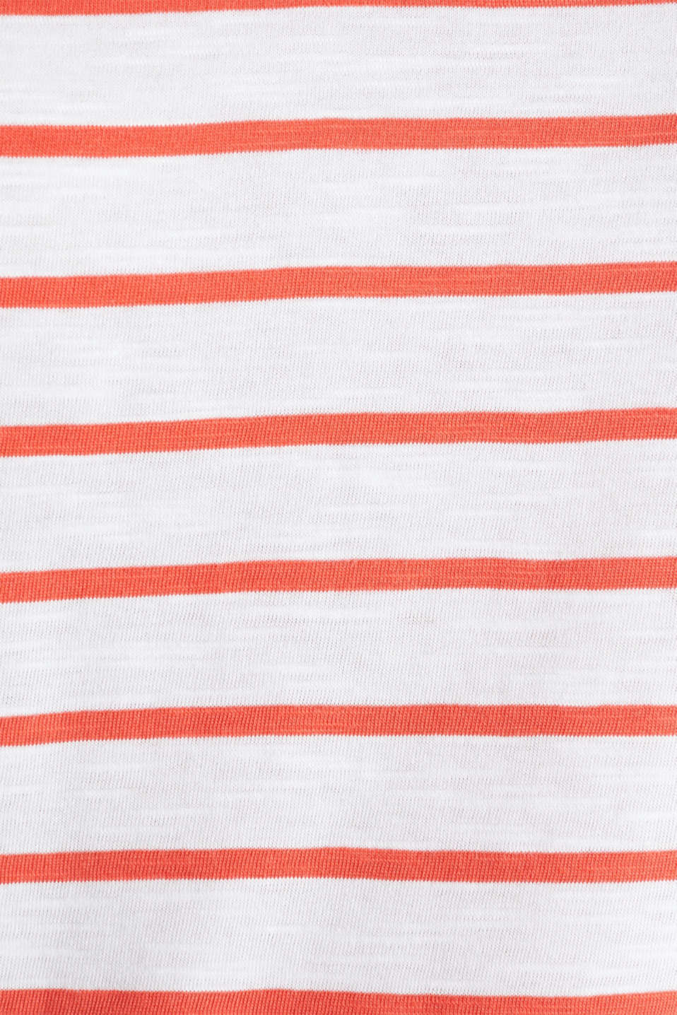 Striped top, 100% organic cotton, CORAL, detail image number 4