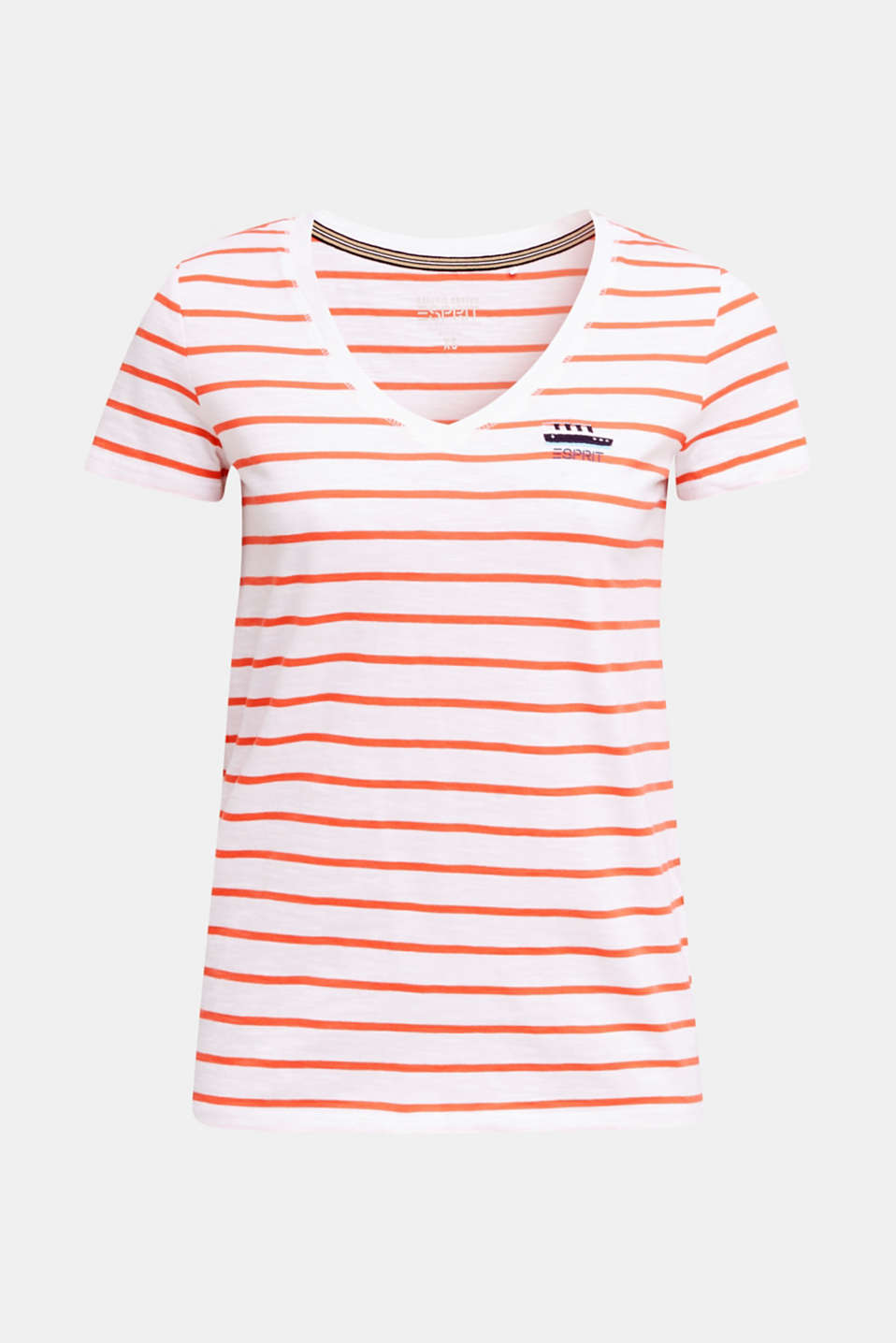Striped top, 100% organic cotton, CORAL, detail image number 5