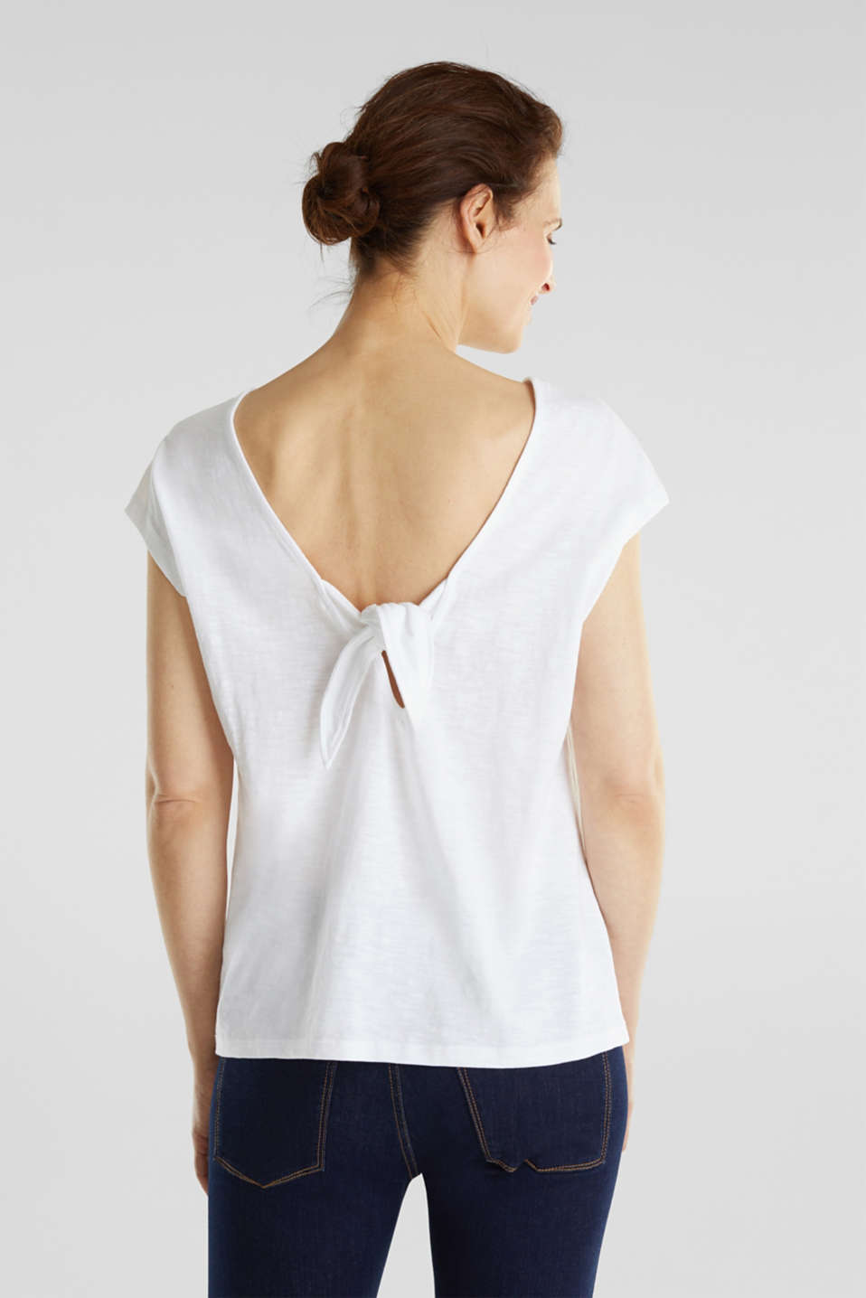 T-shirt with a cut-out on the back, WHITE, detail image number 3