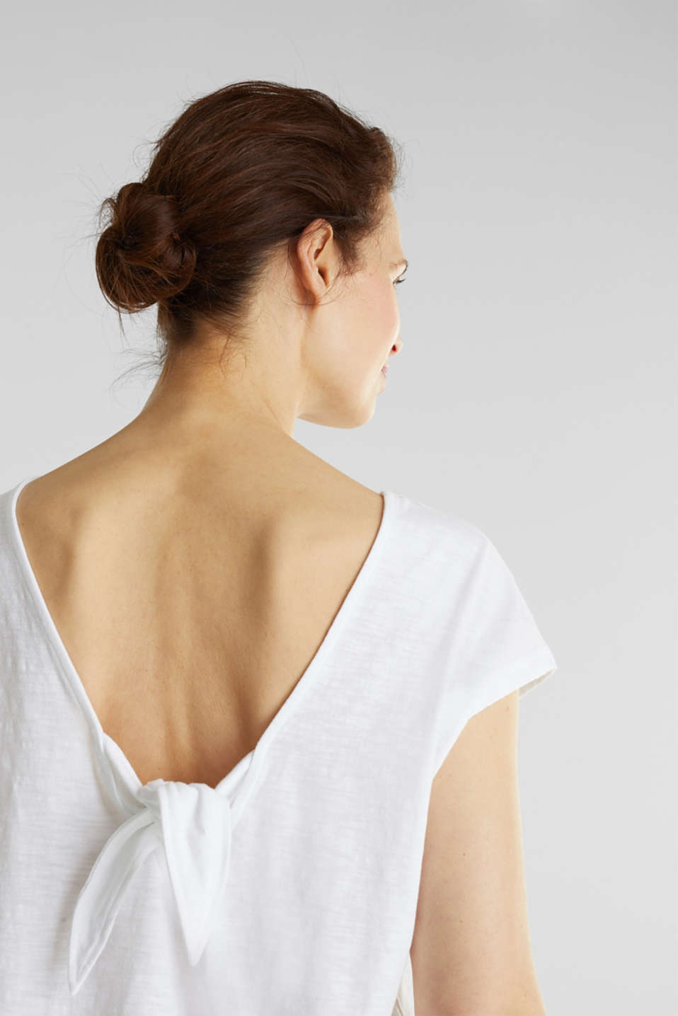 T-shirt with a cut-out on the back, WHITE, detail image number 2