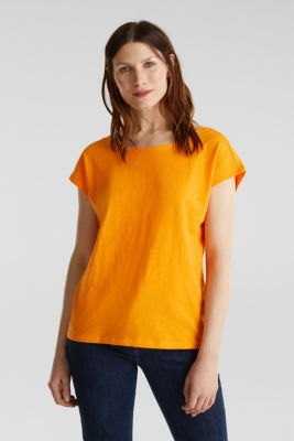 T-shirt with a cut-out on the back, ORANGE, detail