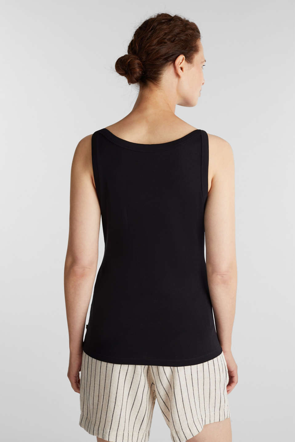 Top made of 100% organic cotton, BLACK, detail image number 3