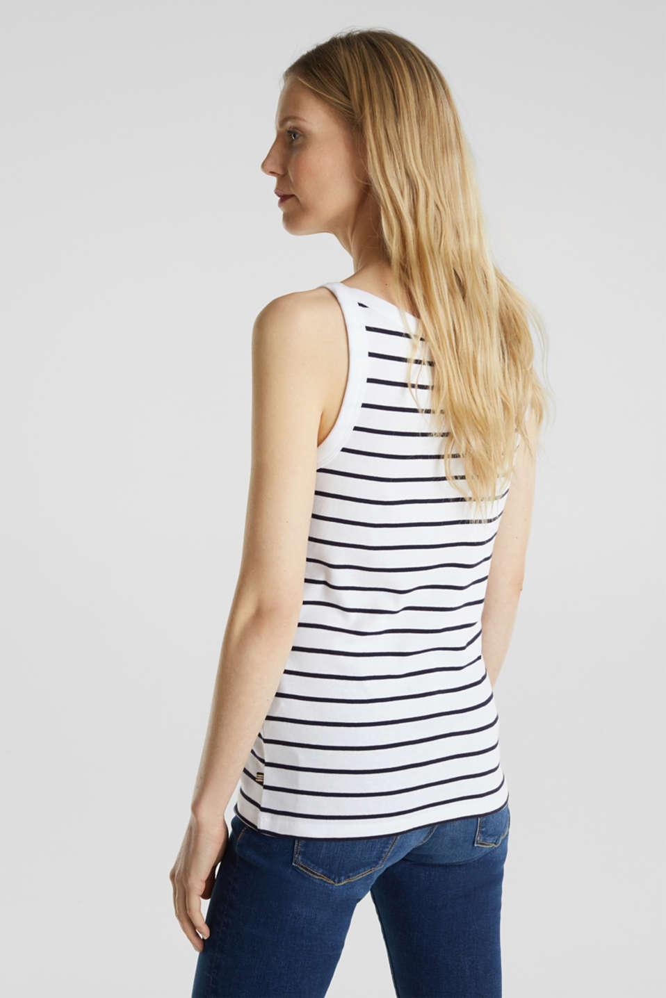 Striped T-shirt, organic cotton, WHITE, detail image number 3